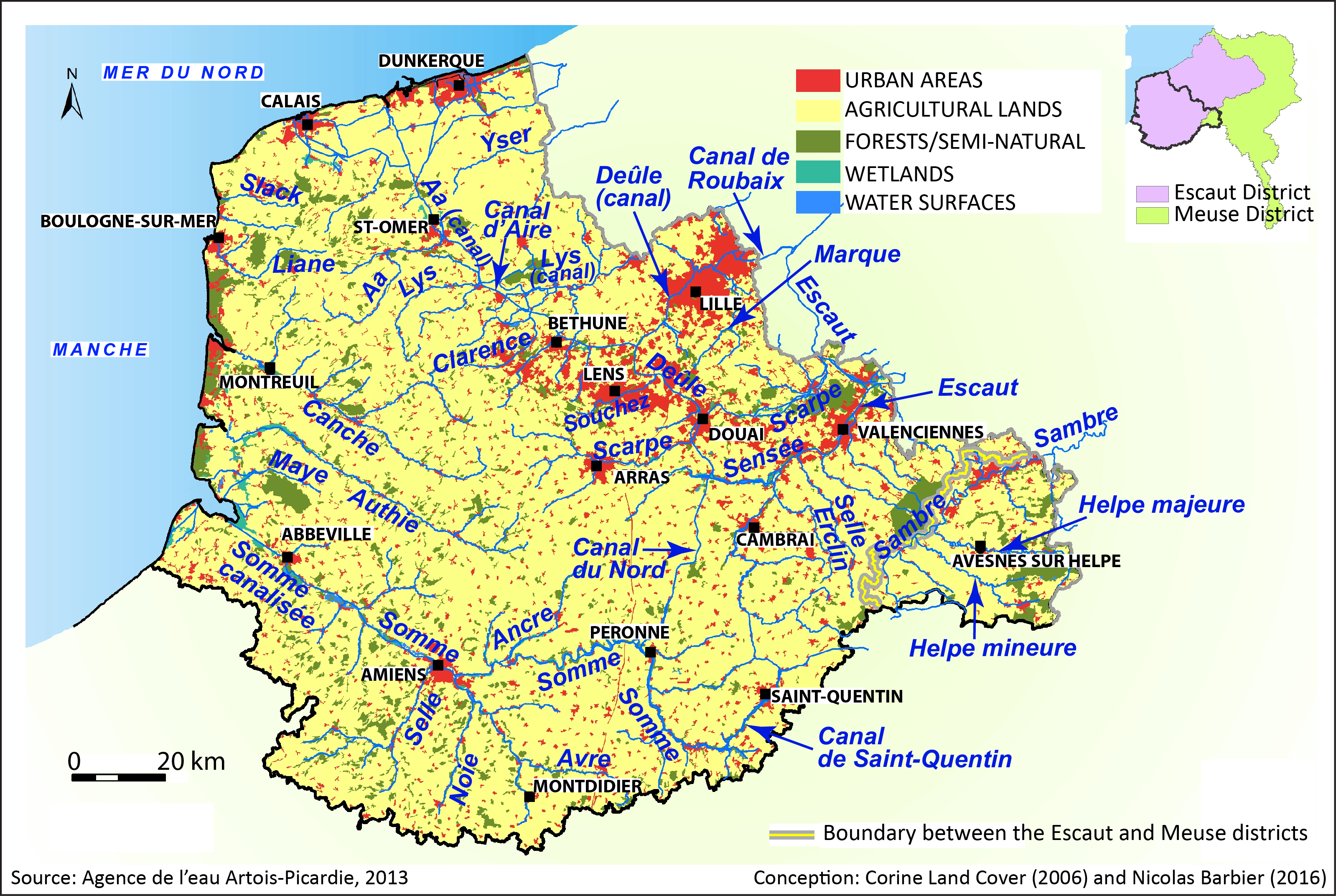 ventdouxprod 2017 nicolas barbier european union water polluters artois-picardie land cover rivers urban areas agricultural areas forests wetlands