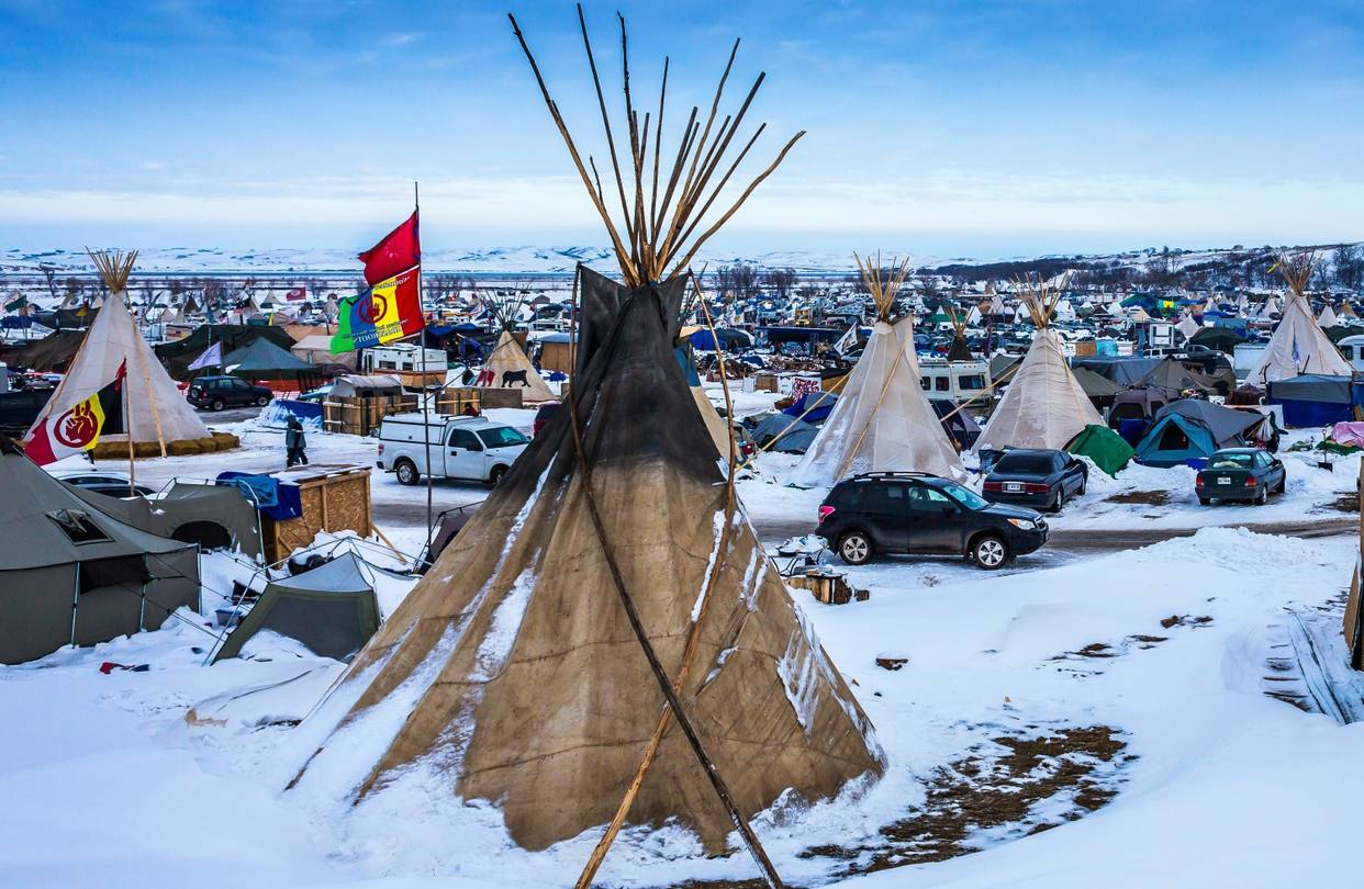water protectors NoDAPL winter camp