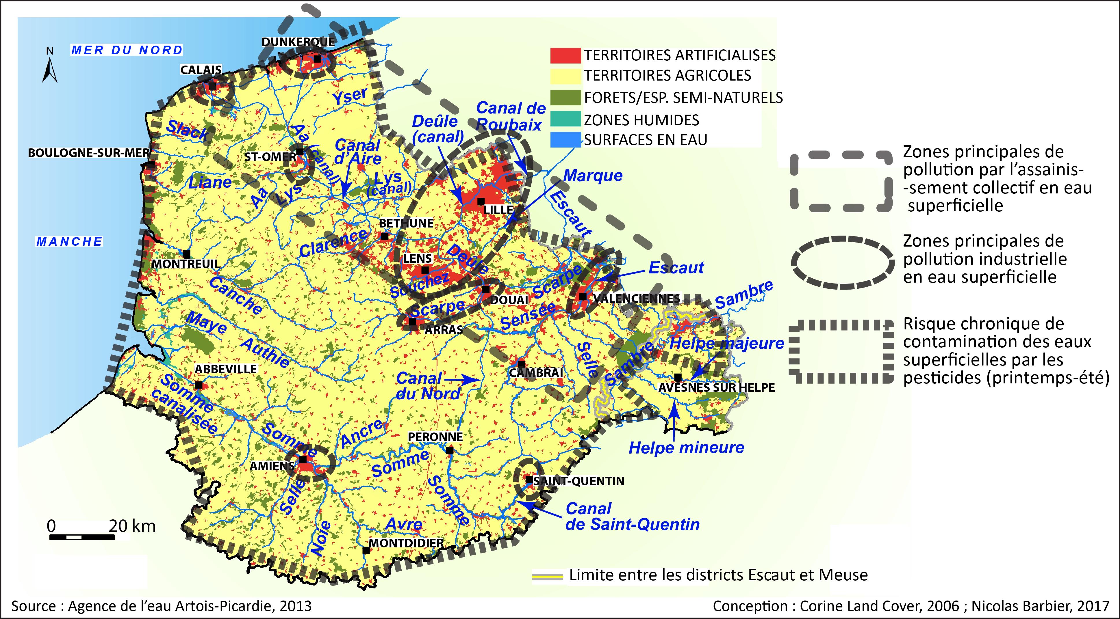 ventdouxprod nicolas barbier pollution eau industrie agriculture assainissement artois-picardie hauts-de-france loi eau milieu aquatique LEMA 2006 directive cadre DCE 2000