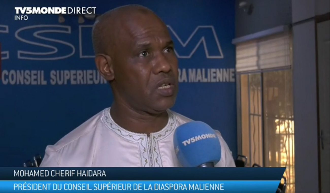ventdouxprod 2019 nicolas barbier if my continent weren't so ruthless with african economic refugees Mohamed Cherif Haidara leader of the mali diaspora