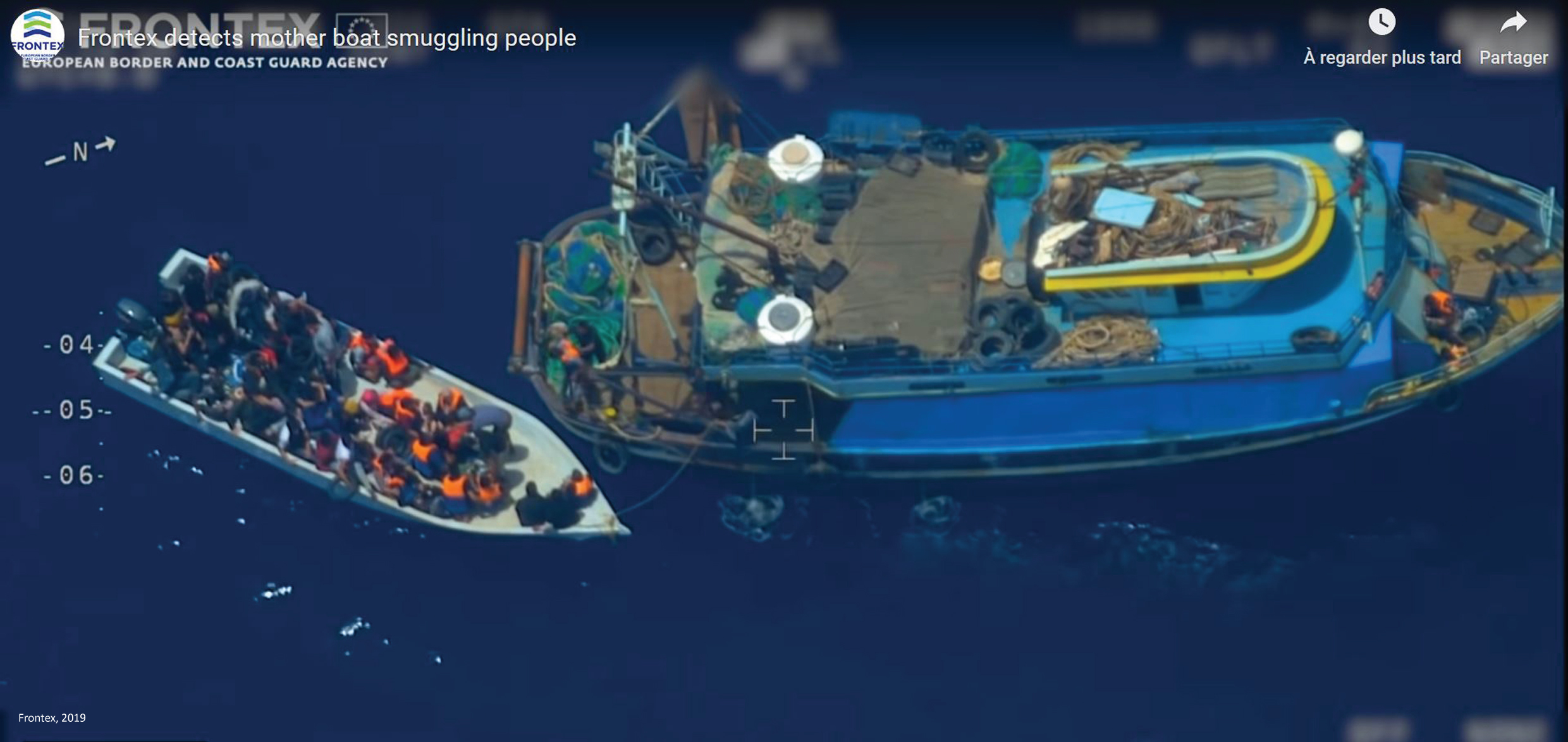 ventdouxprod 2020 a Frontex drone films illegal migrants and informs Italy and Malta